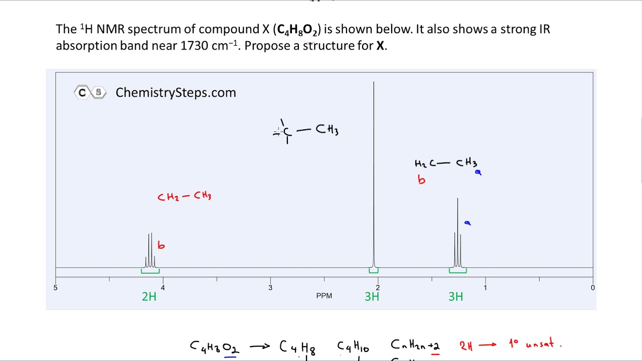 Nmr Spectroscopy Practice Problems Solving Nmr Step By Step Youtube