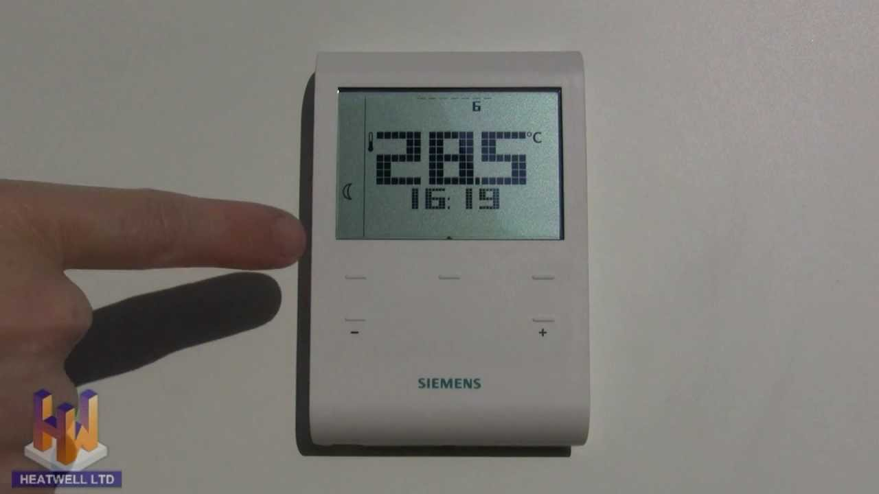 Heatwell Thermostat Programming Video for Siemens RDE100  YouTube