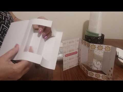 №.36. Новогодняя открытка-раскладушка (чертеж в 2 размерах)