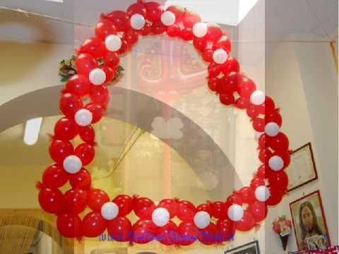 San valentino artballoon tel 0639723294 per feste balloon roma prati via degli scipioni 48 - Decori per san valentino ...