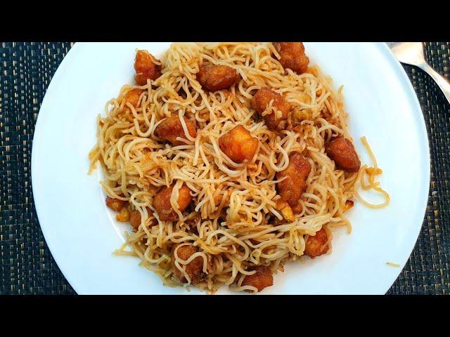 চিংড়ি মাছ দিয়ে খুব সহজ করে মজার স্বাদের নুডুলস রেসিপি। Prawn Fried Noodles Recipe