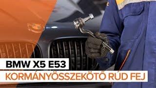 Hogyan cseréljünk Gumiharang Készlet Kormányzás BMW X5 (E53) - video útmutató