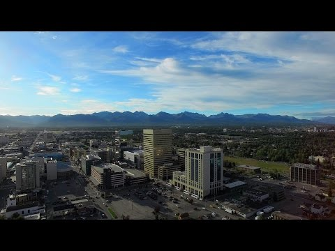 Princess Cruise to Alaska. Day-1. Anchorage,  Aerial View in 4K