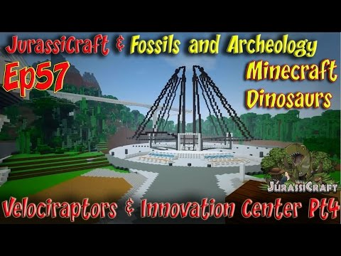 JurassiCraft & Fossils and Archeology Mod Jurassic World Ep5