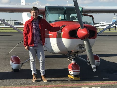 First Solo Flight - Moorabbin Airport (16 Years Old)