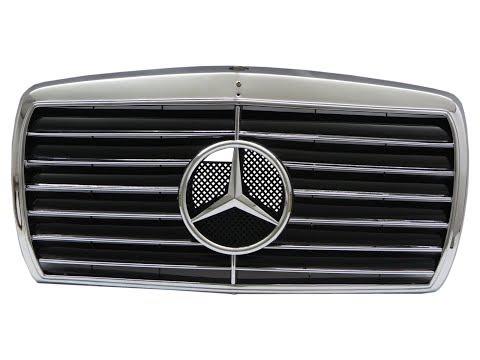 CrazyTheGod W123 1976-1985 GRILLE/GRILL 13MD SPORT CHROME/BLACK For Mercedes-Benz