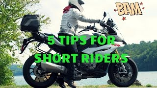 MOTORCYCLES FOR SHORT RIDERS?!   2017 RC 390   TIPS AND TRICKS