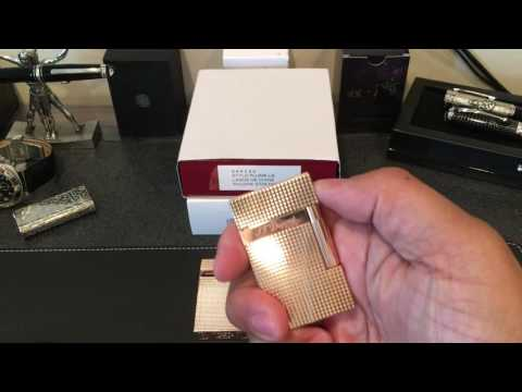 S.T. Dupont Ligne 2 Rose Gold Lighter and Chinese Fake