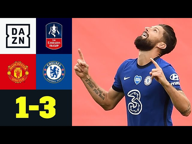 De Gea patzt: Chelsea im Finale! Manchester United - FC Chelsea 1:3 | FA Cup | DAZN Highlights - DAZN FA Cup & Carabao Cup