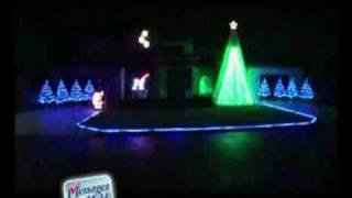 Christmas Lights Show with Music