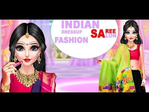 Indian Dressup Saree Fashion Salon Indian Salon Dress Up Game Girls Game Youtube