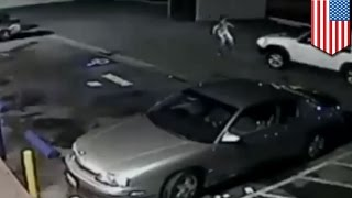 Caught on tape: Couple runs down man  in south LA hit and run