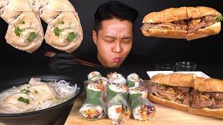 큰 닭다리 베트남 쌀국수, 월남쌈, 반미빵 먹방 l V…