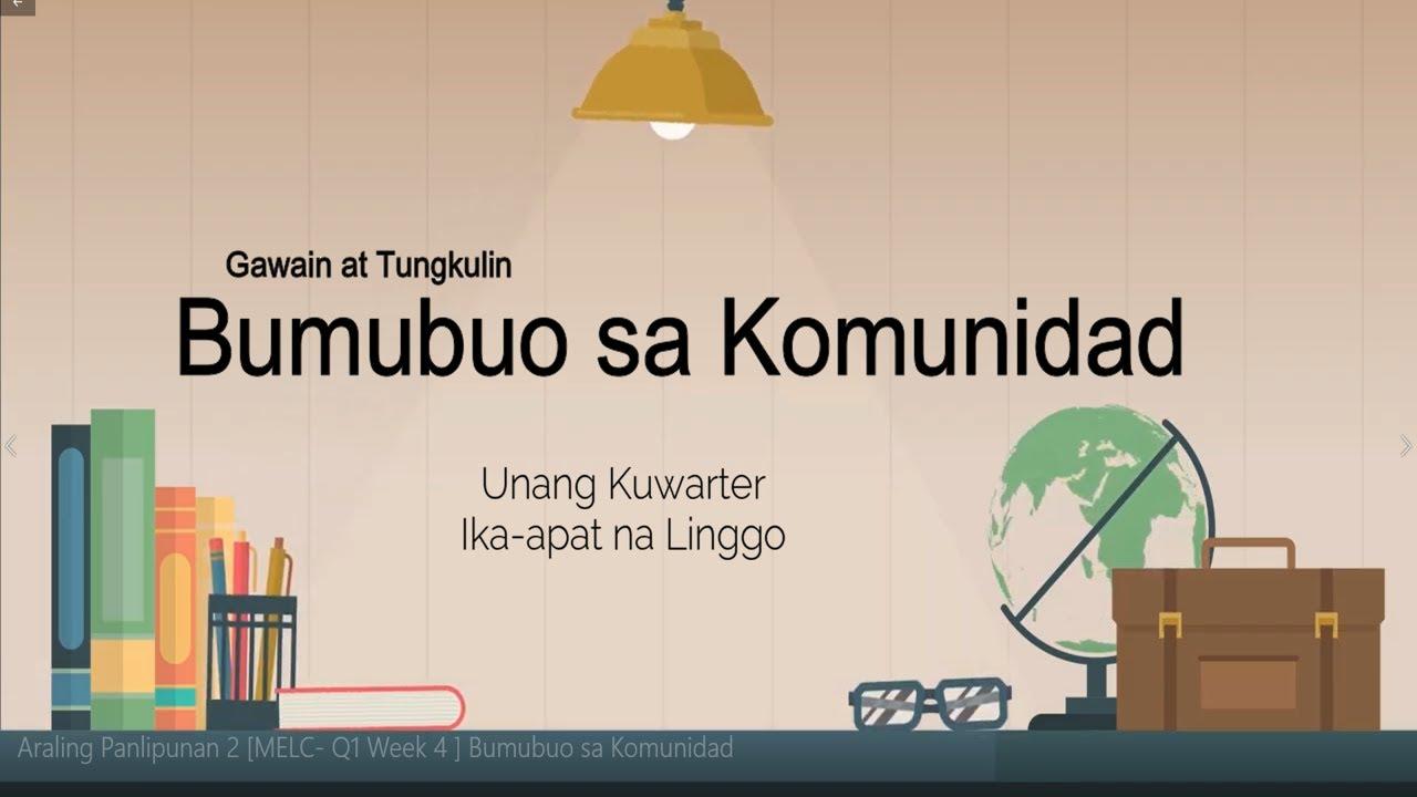 Araling Panlipunan 2 MELC- Q1 Week 4  Bumubuo sa Komunidad Part 1 -  YouTube [ 720 x 1280 Pixel ]