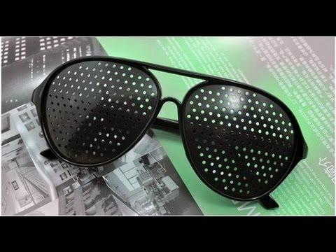 040f9f1e0a4f Очки с дырочками для улучшения зрения. Glasses Vision Improve. - YouTube