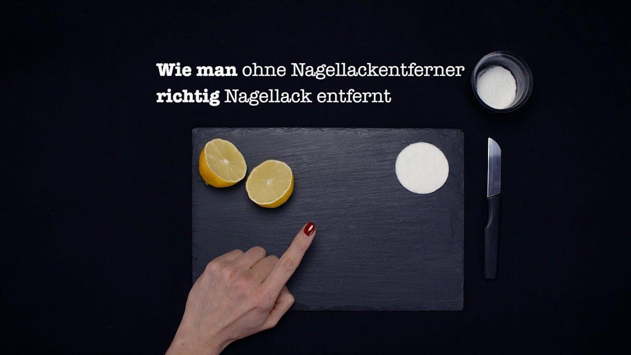 wie man richtig... NAGELLACK ENTFERT o. Nagellackentferner (Lifehack ...