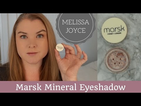 Marsk Mineral Eyeshadow Review