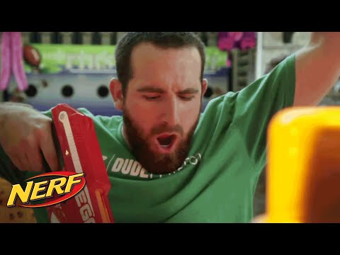 NERF Stunts – Taking the Prize with MEGA Magnus ft. Dude Perfect