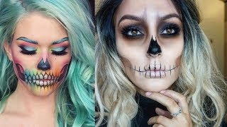 Easy Halloween Makeup Tutorial | Smokey Skull (part-4)