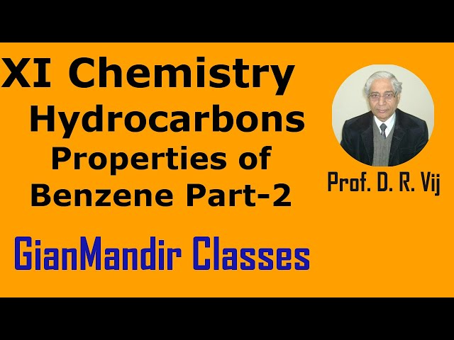 XI Chemistry | Hydrocarbons | Properties of Benzene Part-2 by Ruchi Ma'am
