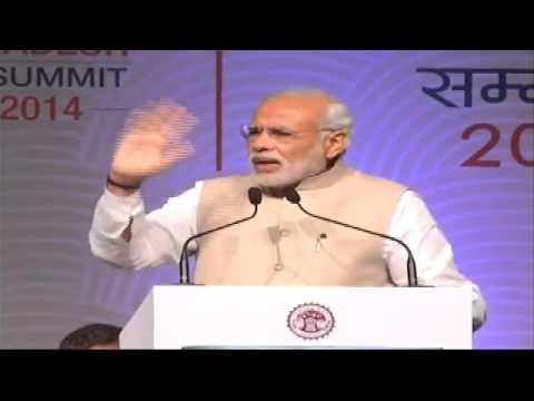 PM Modi's address at the Global Investors' Summit 2014 in Indore, Madhya Pradesh
