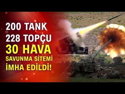 Azerbaycan Savunma Bakanlığı bilançoyu paylaştı! 200 tank imha edildi
