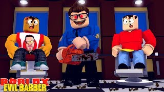 ROBLOX ESCAPE THE EVIL BARBER OBBY - DONUT & ROPO SIND VON DER EVIL BARBER GEMACHT!!