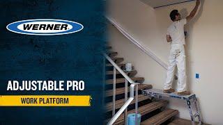 Werner Ladder UK - Adjustable PRO Work Platform