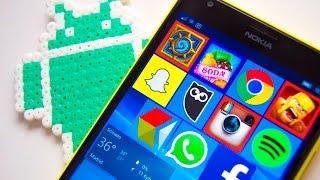 (Ya no es posible instalar apps Android) Así funcionan las aplicaciones Android en Windows 10 Mobile