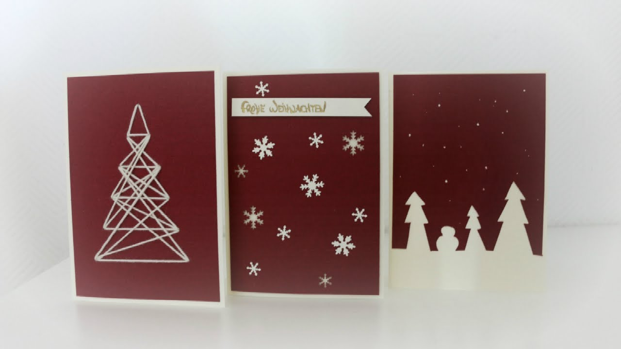 weihnachtskarten basteln diy christmas cards youtube. Black Bedroom Furniture Sets. Home Design Ideas