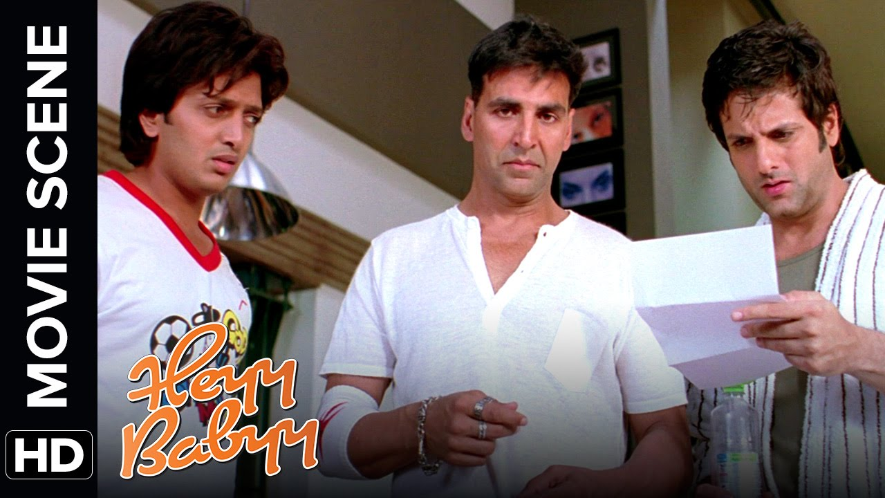 Download Akshay finds a baby at his doorstep | Heyy Babyy | Movie Scene