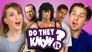 Download DO COLLEGE KIDS KNOW 80s ACTION MOVIES? (REACT: Do They Know It?) Mp3 and Videos