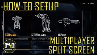STAR WARS BATTLEFRONT 2 - HOW TO PLAY SPLIT SCREEN MULTIPLAYER (ARCADE AND BOTS)