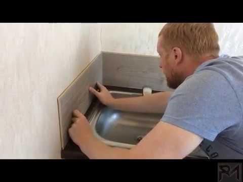 Как сделать кухонный фартук из ламината