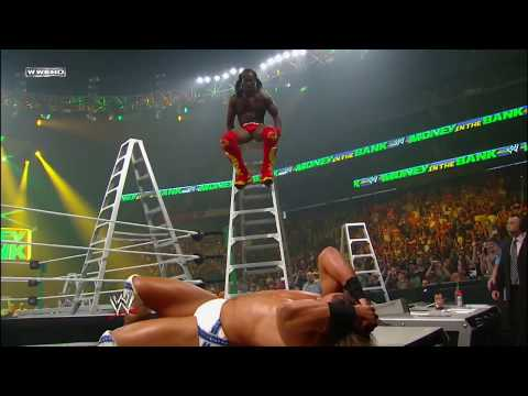 Kofi Kingston performs an awe-inspiring Boom Drop: Money in the Bank 2010