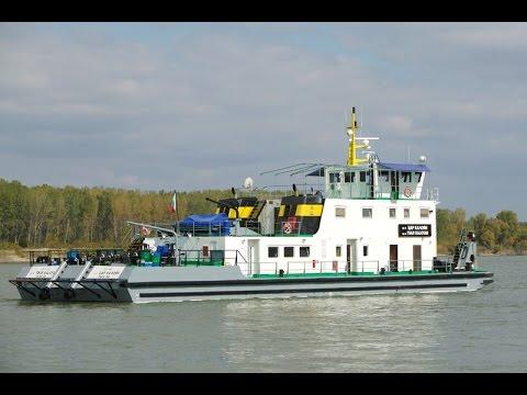 Tsar Kaloyan with six barges Lower Danube