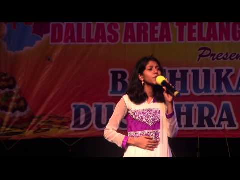 Song 1 on Naanna by MadhuPriya at DATA Dasara Bathukamma on Sep 20th 2014