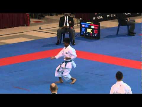 2011 Jr WKF World Championship Cadet Male Kata USA Round 3.mpg