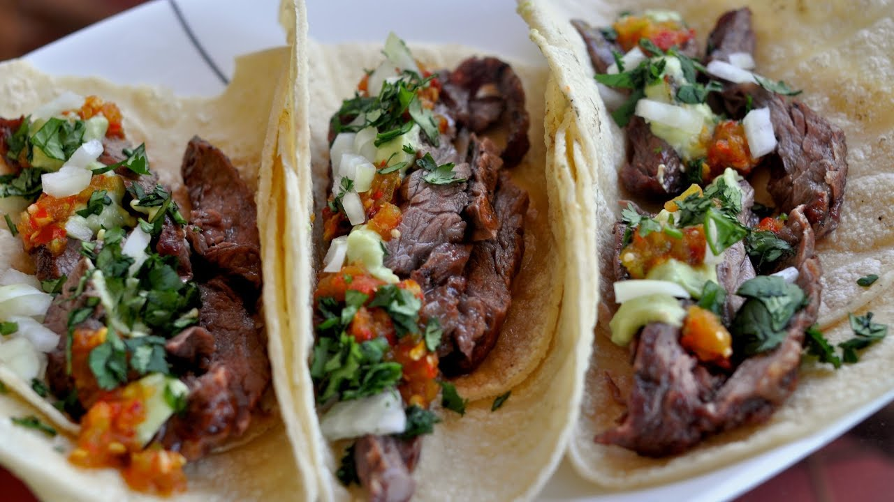 Carne Asada Tacos Recipe Tacos De Carne Asada Youtube