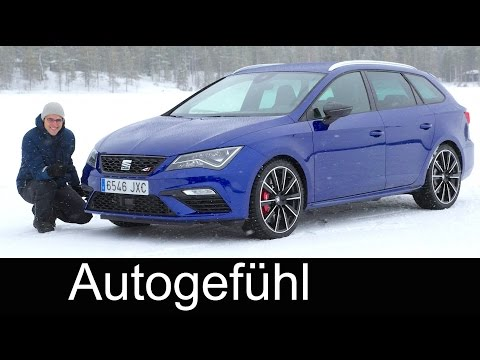 Seat Leon ST Cupra ice & snow feature FULL REVIEW 300 hp DSG AWD test driven - Autogefühl
