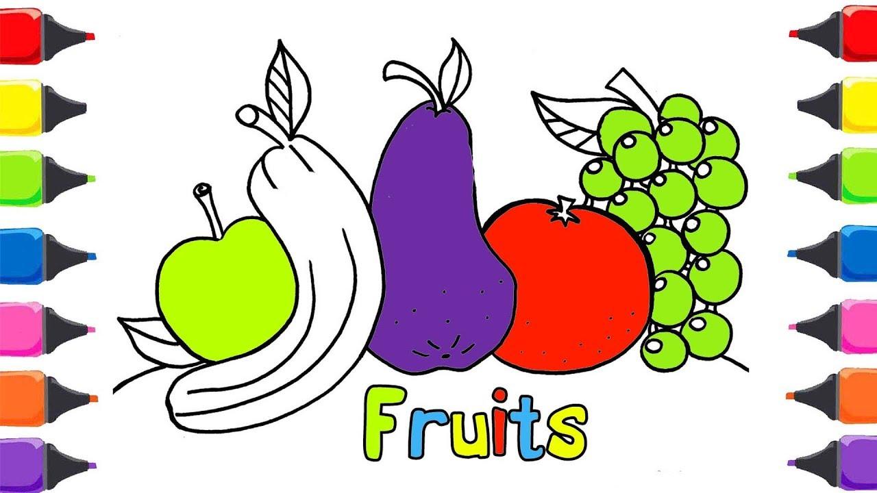Meyveler Sebzeler Boyama Oyunu Meyveleri Sebzeleri Ogreniyorum