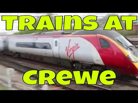 Trains at Crewe
