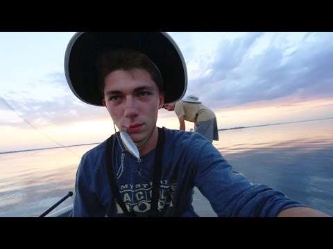 Hooked in the face topwater bass fishing youtube for Jon b fishing