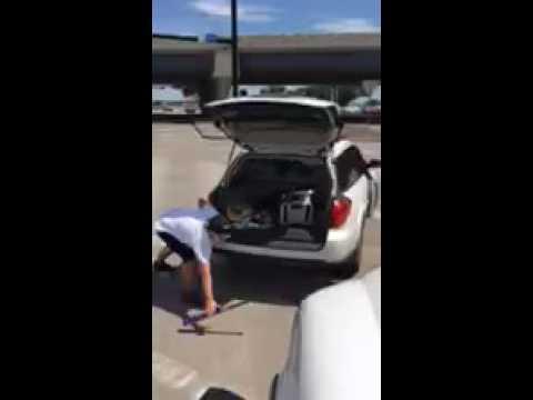 Lesbian beats up truck