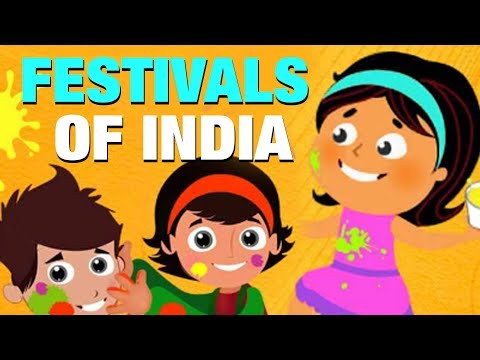 Main Festivals Names Of India For Kids In English | Simba Tv | Festival Name In India For Childrens