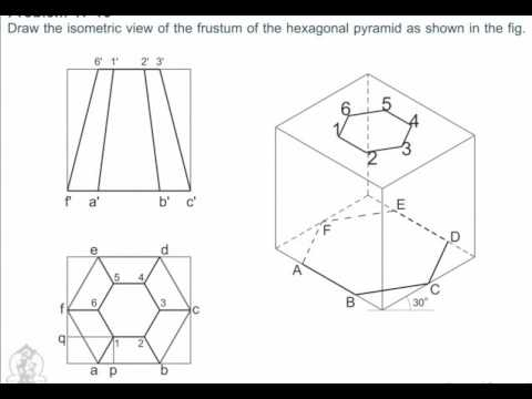 Engineering Drawing - How to Draw Isometric View Of Frustum Of - isometric view