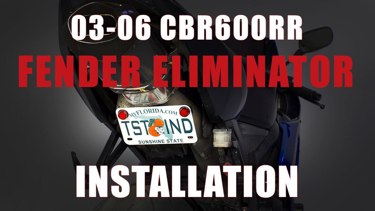 How To Install Fender Eliminator Honda 2003 2006 Cbr 600rr By Tst Industries