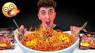 Eating the Worlds SPICIEST Noodles - Korean Noodle Challenge