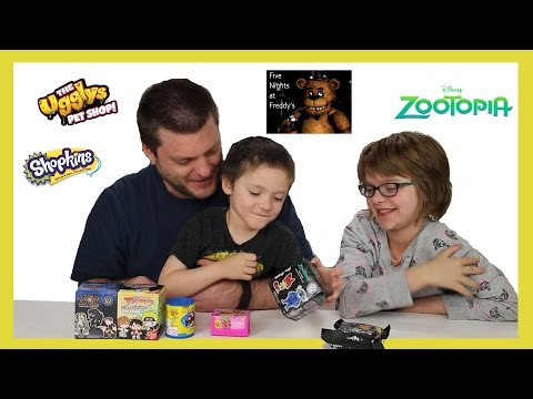 Opening Surprise Blinds! (Minion Vlog) Shopkins, Zootopia, Ugglys, FNAF - Day 1019   ActOutGames