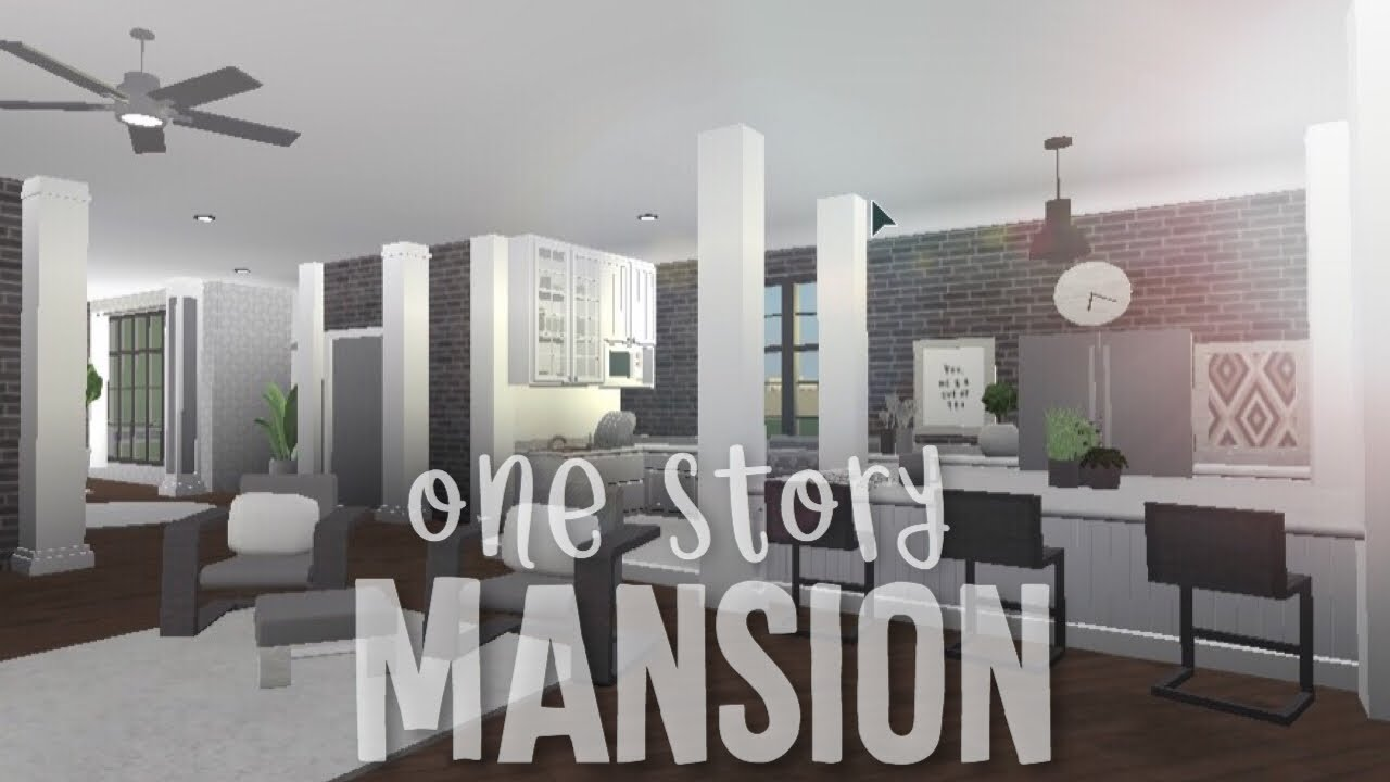 Roblox Bloxburg Mansion Inside Bloxburg One Story Mansion Youtube